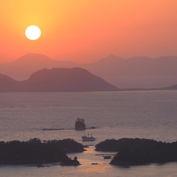九十九島と展望台-1