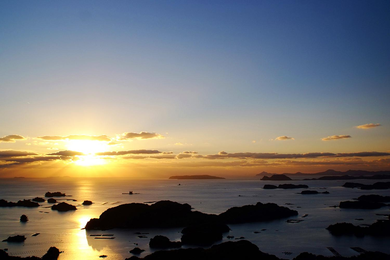 夕景を見るならここ「石岳展望台」-0