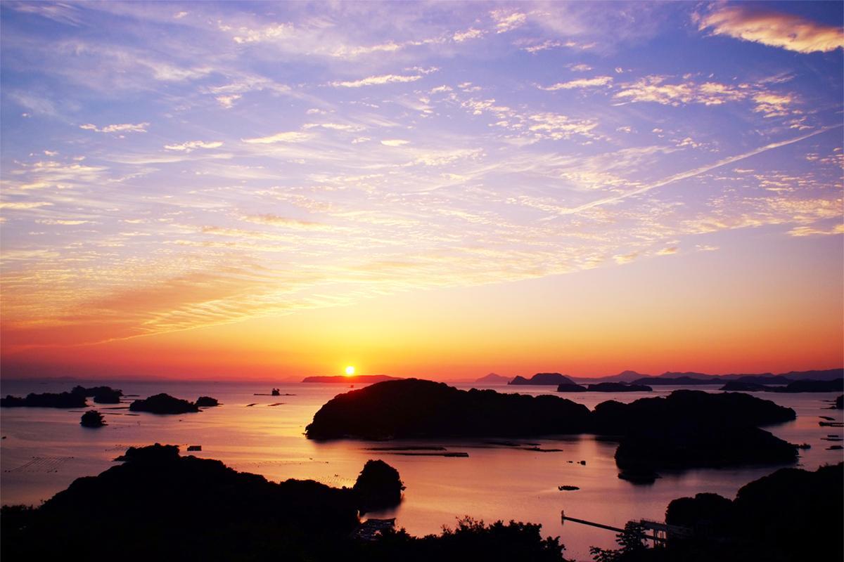 雨の日でも眼前に迫る「九十九島」の景色が楽しめる「船越展望所」-1