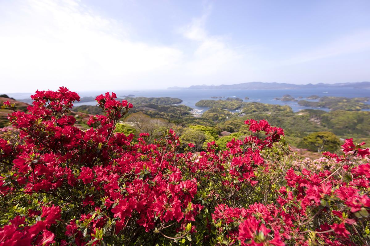 つつじと「九十九島」が織りなす絶景!「長串山公園」-2