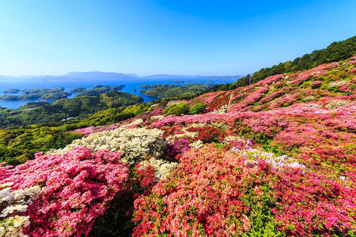 つつじと「九十九島」が織りなす絶景!「長串山公園」-0