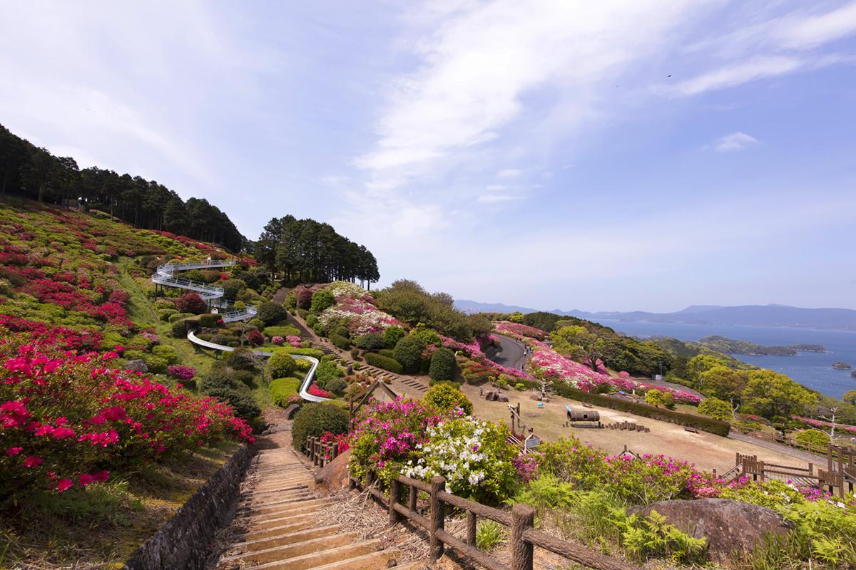 つつじと「九十九島」が織りなす絶景!「長串山公園」-1