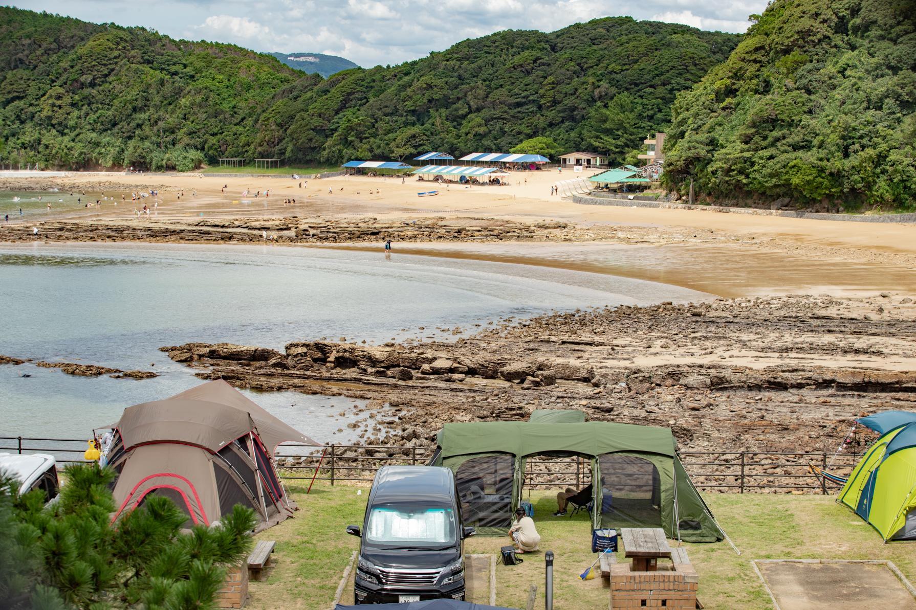 佐世保最大の海水浴場「白浜海水浴場」と「白浜キャンプ場」で海をたらふく楽しむ!-3