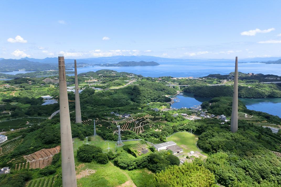 日本一を記録した、コンクリート製の三本の塔がそびえる「針尾送信所」-0