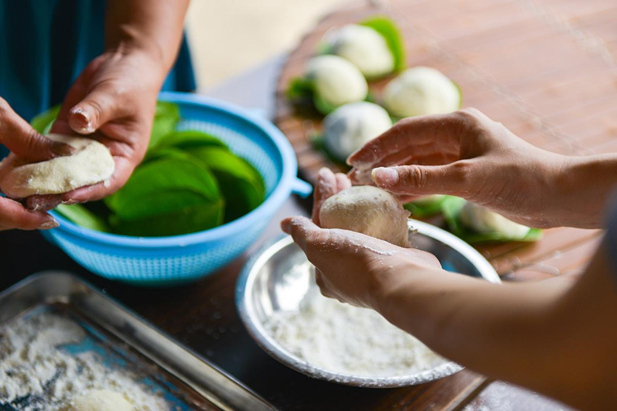 材料は採れたて島食材♪島ごはん&郷土菓子の手づくり体験-0