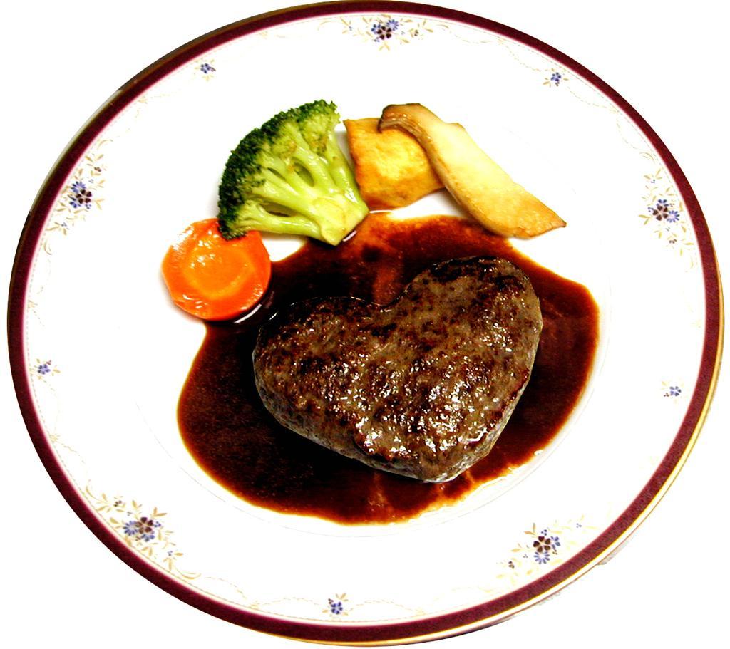 本鴨ハンバーグステーキ 1,600円-2