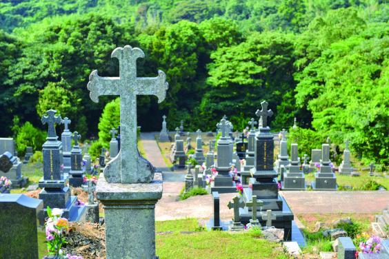 【黒島】マルマン神父の墓(カトリック共同墓地)-0