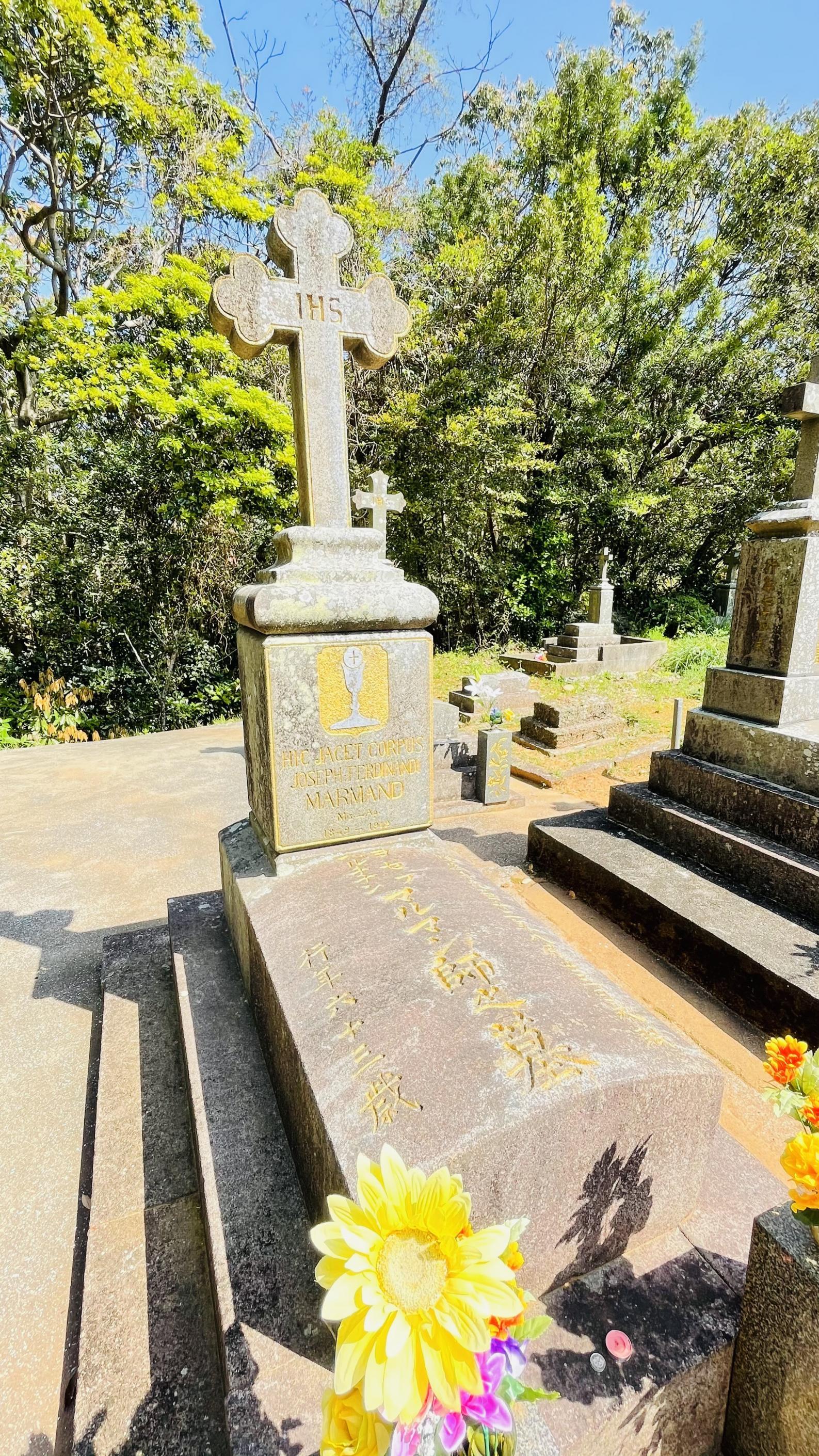 【黒島】マルマン神父の墓(カトリック共同墓地)-1